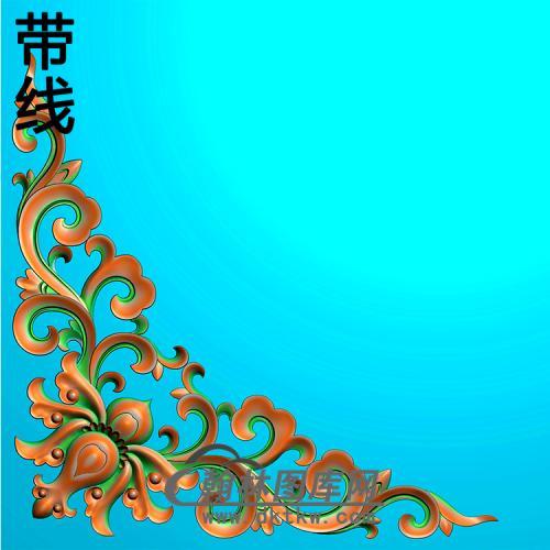 欧式洋花角花精雕图(YJH-132)