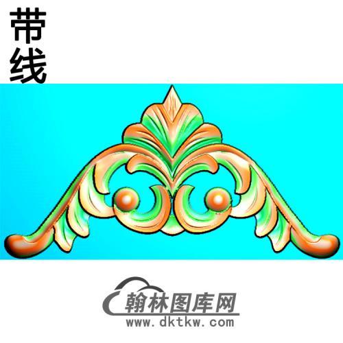 欧式洋花角花精雕图(YJH-133)