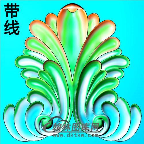 欧式洋花角花精雕图(YJH-134)