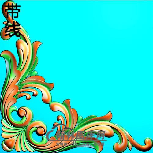 欧式洋花角花精雕图(YJH-135)