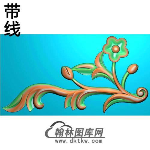 欧式洋花角花精雕图(YJH-137)