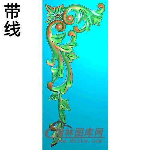 欧式洋花角花精雕图(YJH-138)