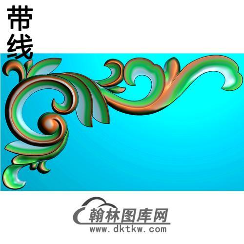 欧式洋花角花精雕图(YJH-140)