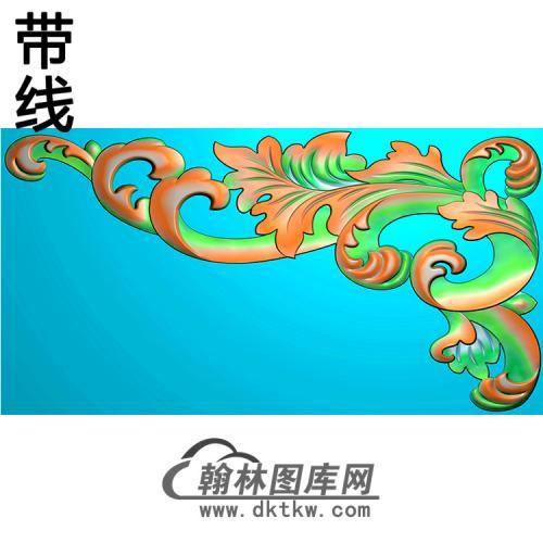欧式洋花角花精雕图(YJH-141)