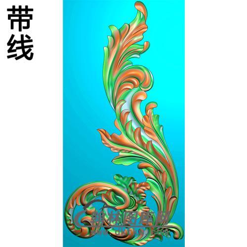 欧式洋花角花精雕图(YJH-142)