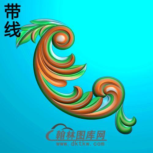 欧式洋花角花精雕图(YJH-143)