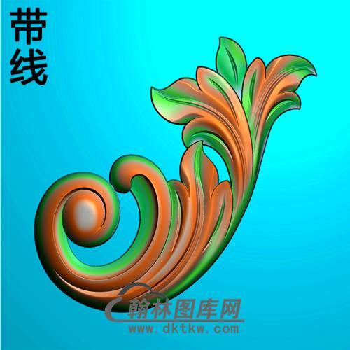 欧式洋花角花精雕图(YJH-144)