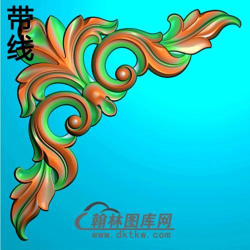 欧式洋花角花精雕图(YJH-145)