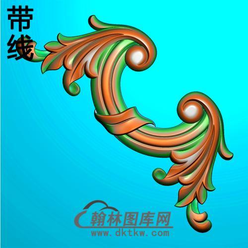 欧式洋花角花精雕图(YJH-146)