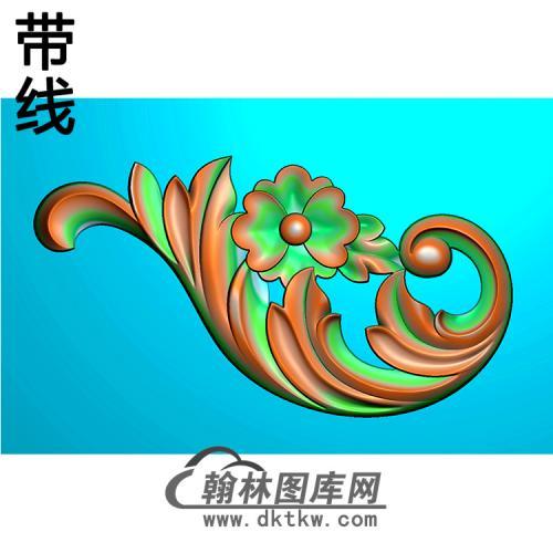 欧式洋花角花精雕图(YJH-147)