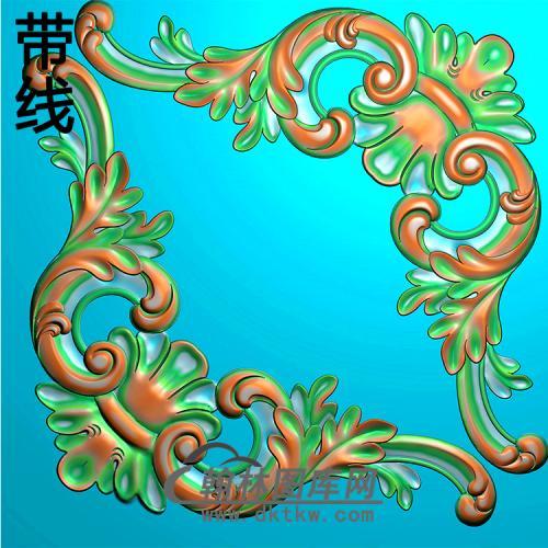 欧式洋花角花精雕图(YJH-148)
