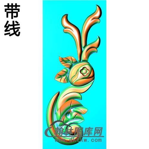欧式洋花角花精雕图(YJH-126)