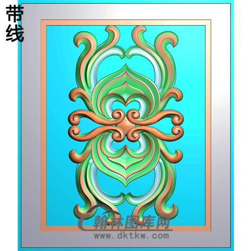 欧式长方形洋花精雕图(CYH-212)