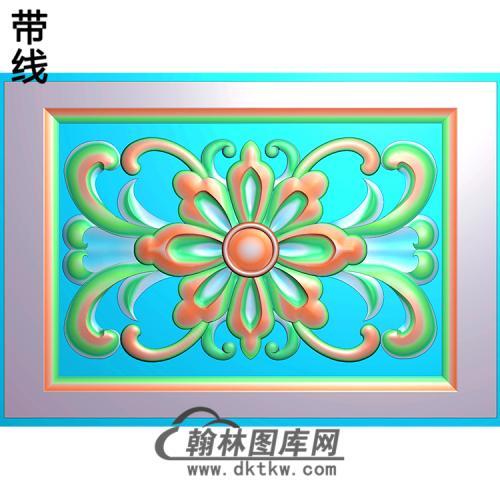 欧式长方形洋花精雕图(CYH-214)