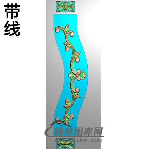 欧式长条洋花精雕图(CTH-109)