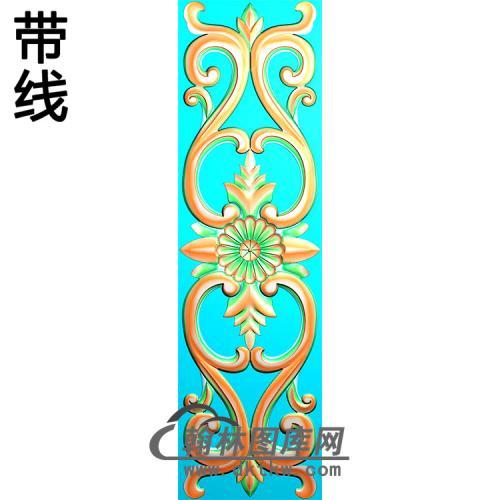欧式长条洋花精雕图(CTH-147)