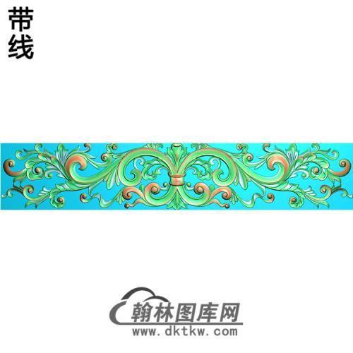 欧式长条洋花精雕图(CTH-182)