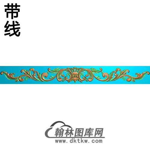 欧式长条洋花精雕图(CTH-190)