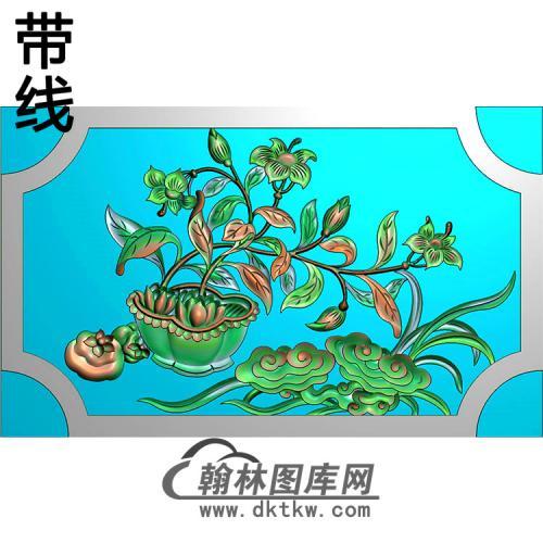 欧式长方形洋花精雕图(CYH-339)
