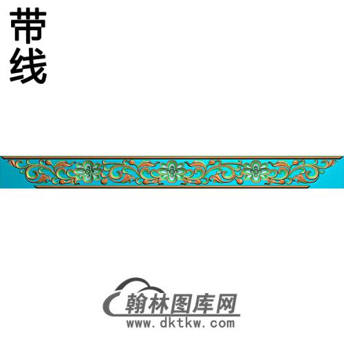欧式长条洋花精雕图(CTH-194)