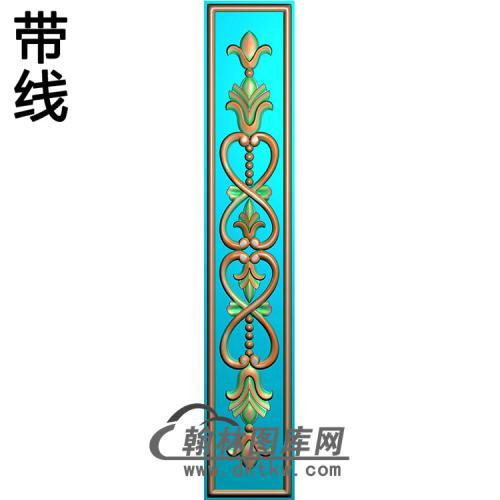 欧式长条洋花精雕图(CTH-198)