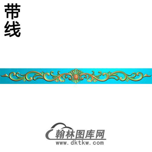 欧式长条洋花精雕图(CTH-207)