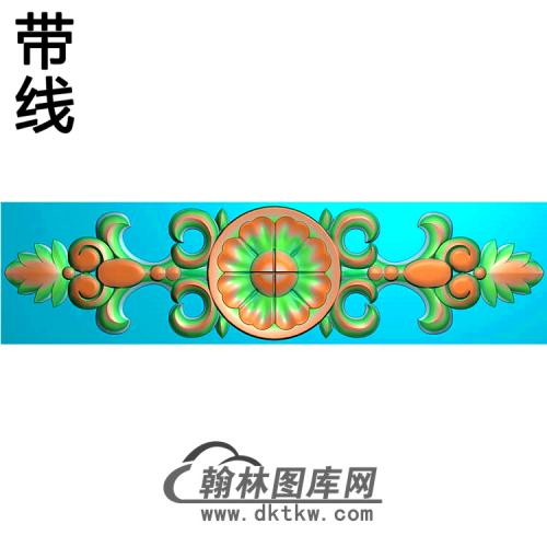 欧式长条洋花精雕图(CTH-215)