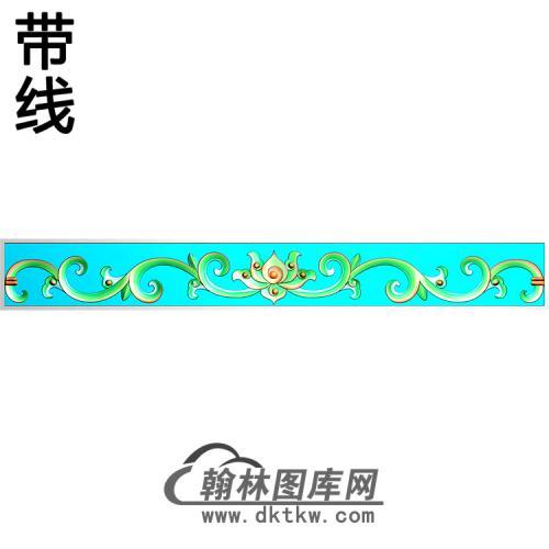 欧式长条洋花精雕图(CTH-228)