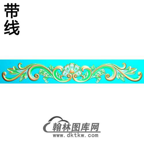 欧式长条洋花精雕图(CTH-244)
