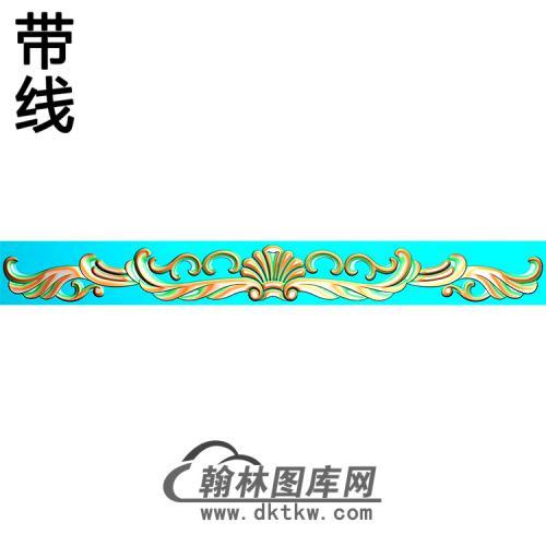 欧式长条洋花精雕图(CTH-248)