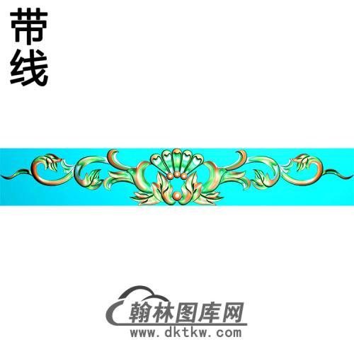 欧式长条洋花精雕图(CTH-272)