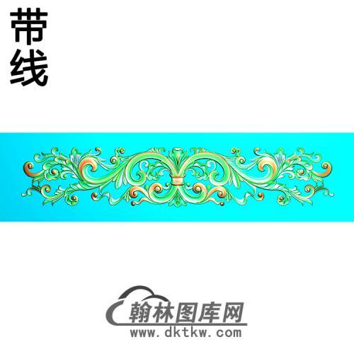 欧式长条洋花精雕图(CTH-273)
