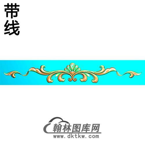 欧式长条洋花精雕图(CTH-274)