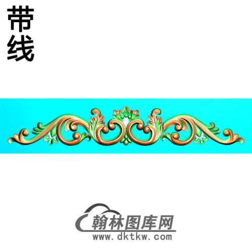欧式长条洋花精雕图(CTH-275)