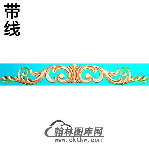 欧式长条洋花精雕图(CTH-276)