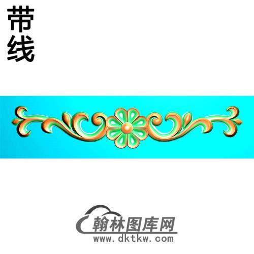 欧式长条洋花精雕图(CTH-277)