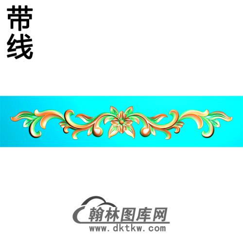欧式长条洋花精雕图(CTH-278)