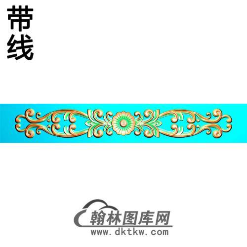 欧式长条洋花精雕图(CTH-279)