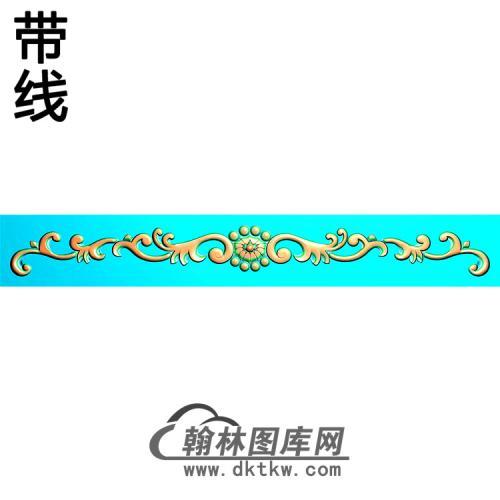 欧式长条洋花精雕图(CTH-280)