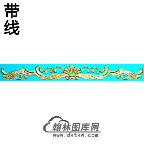 欧式长条洋花精雕图(CTH-281)