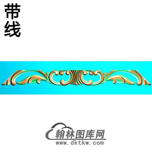 欧式长条洋花精雕图(CTH-282)