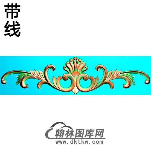 欧式长条洋花精雕图(CTH-284)