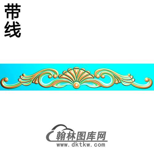 欧式长条洋花精雕图(CTH-285)