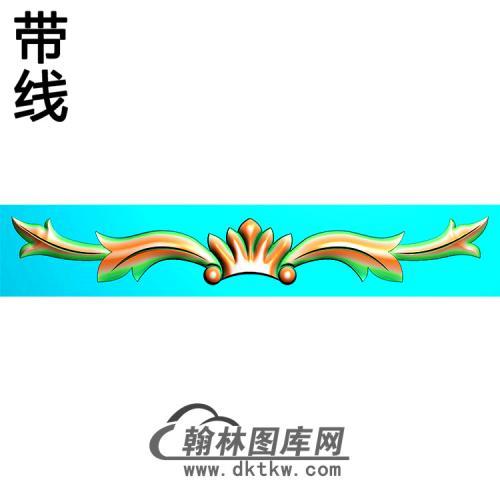 欧式长条洋花精雕图(CTH-286)