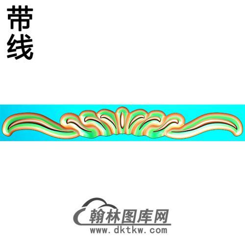 欧式长条洋花精雕图(CTH-287)