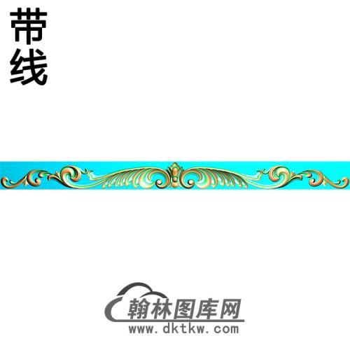 欧式长条洋花精雕图(CTH-288)