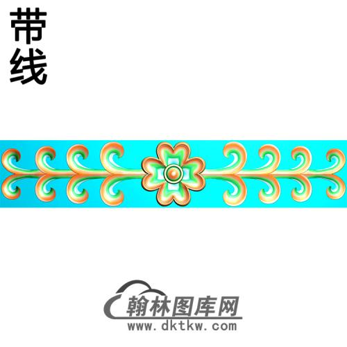 欧式长条洋花精雕图(CTH-289)