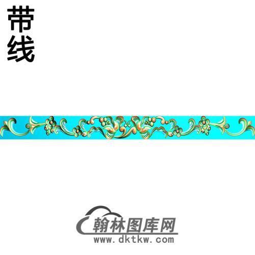 欧式长条洋花精雕图(CTH-290)