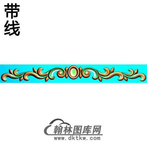 欧式长条洋花精雕图(CTH-291)