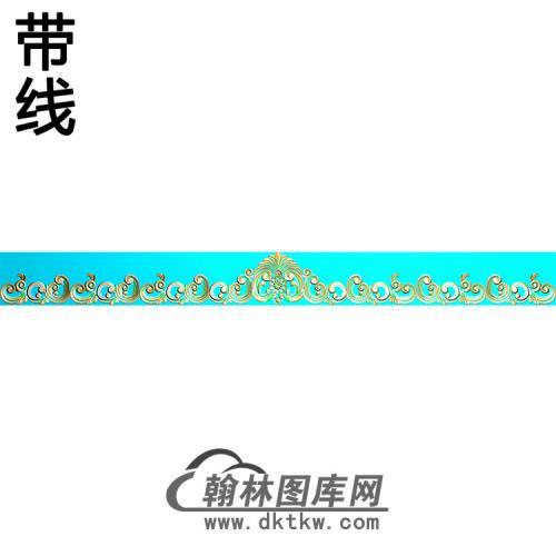 欧式长条洋花精雕图(CTH-292)